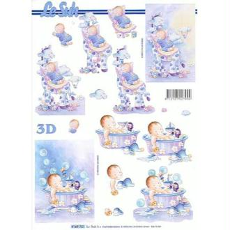 Carte 3D - Naissance garcon 21 x 29,7 cm