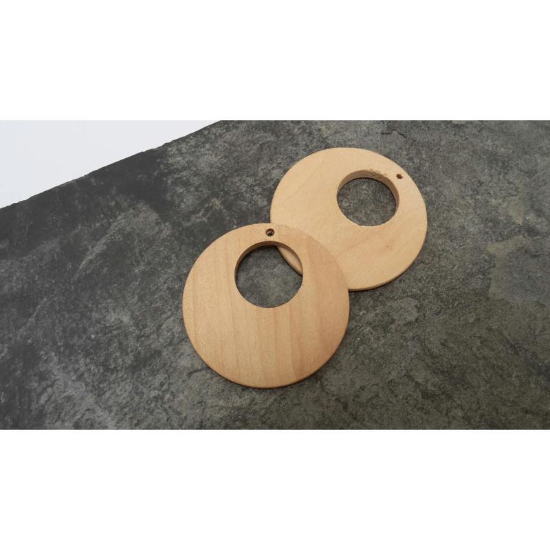 Pendentif cr ole en bois pendentif ethnique pendentif - Miroir rond en bois ...