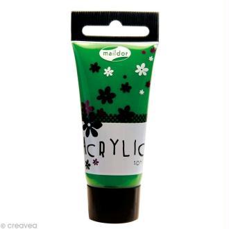 Tube de peinture acrylique Maildor - Vert sapin 20 ml