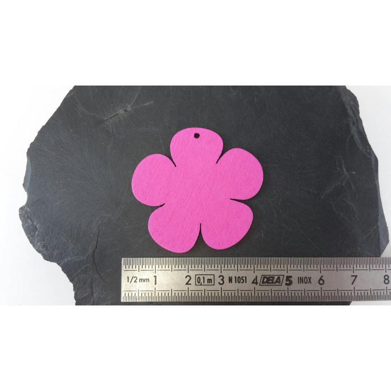 etiquettes fleurs en bois rose marque place porte nom drag e bapt me mariage 39 mm 10 pcs. Black Bedroom Furniture Sets. Home Design Ideas