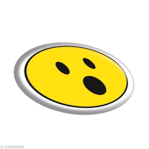 Sticker fantaisie Smileys x 35 - 1 planche 7,5 x 12 cm - Photo n°2