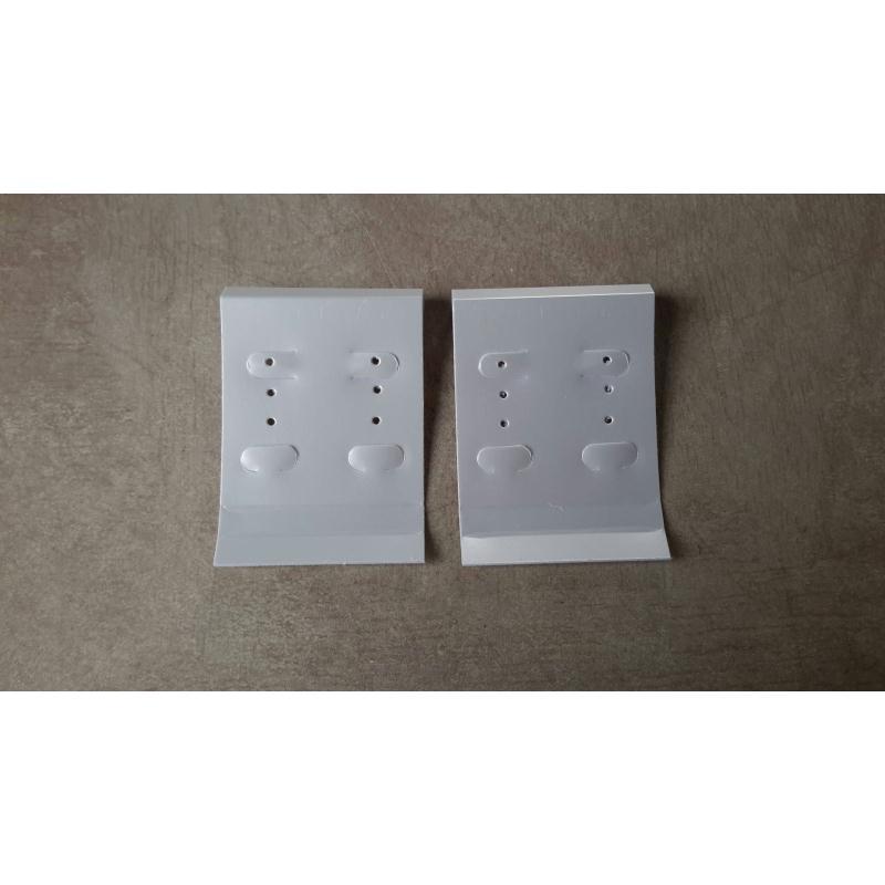 Plaques pr sentoirs pour boucle d 39 oreille couleur blanche 10 pcs pr sentoir boucles d - Presentoir boucle d oreille ...