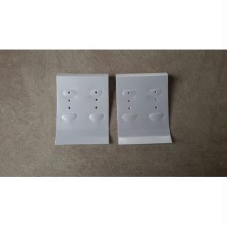 Plaques présentoirs pour boucle d'oreille, Couleur blanche, 10 pcs