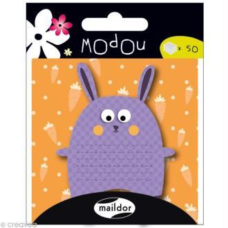 Mémo adhésif Modou - Lapin Violet - 50 pcs