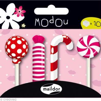 Mémo adhésif Modou Marker - Bonbons Rouge et Rose - 80 pcs