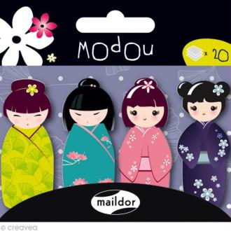 Mémo adhésif Modou Marker - Kokeshi Multicolore - 80 pcs