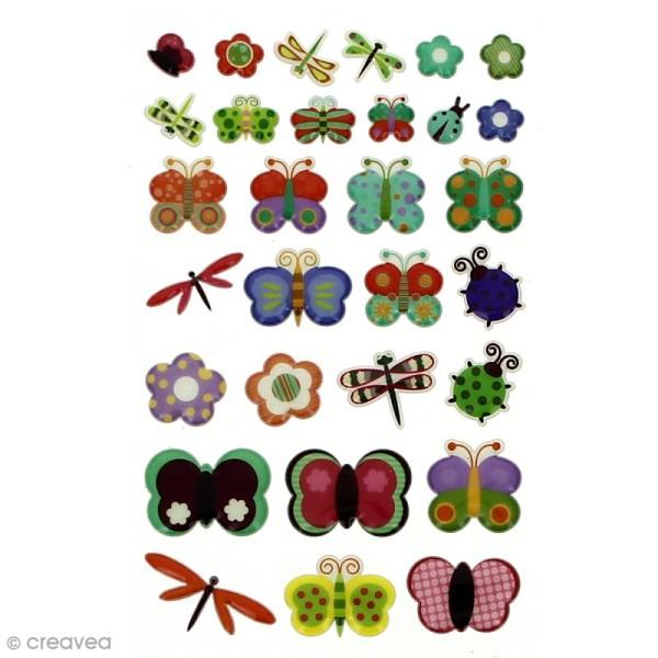 Sticker fantaisie Assortiment Animaux x 160 - 8 planches 7,5 x 12 cm - Photo n°2