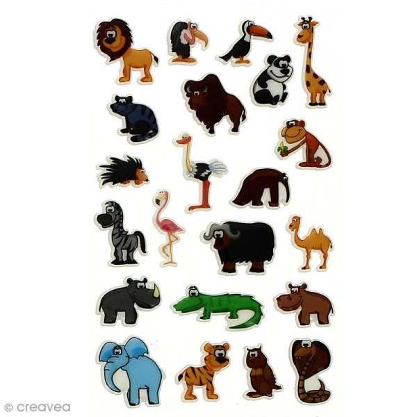 Sticker fantaisie Assortiment Animaux x 160 - 8 planches 7,5 x 12 cm - Photo n°3