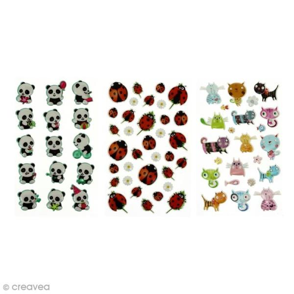 Sticker fantaisie Assortiment Animaux x 160 - 8 planches 7,5 x 12 cm - Photo n°6