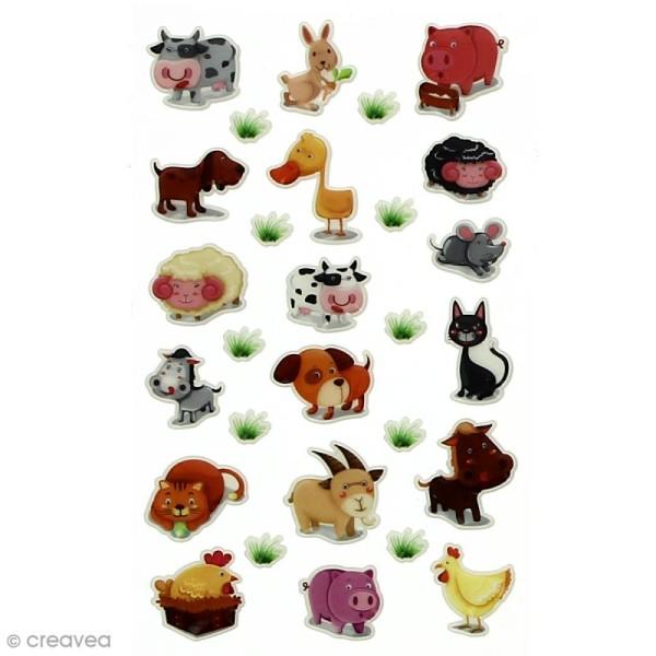 Sticker fantaisie Assortiment Animaux x 160 - 8 planches 7,5 x 12 cm - Photo n°1
