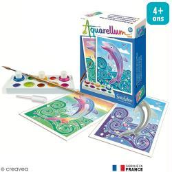 Aquarellum mini Dauphins x 2 tableaux