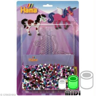 Kit création Perles Hama Midi diam. 5 mm - Licorne x 2000