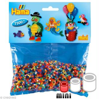 Perles Hama mini diam. 2,5 mm - Assortiment 48 couleurs x 7500