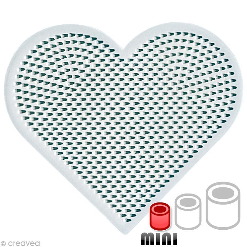 Plaque pour perles Hama Mini - Coeur - Photo n°1