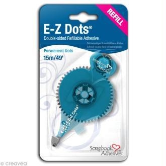 Recharge dérouleur adhésif permanent E-Z Dots points - 15 m