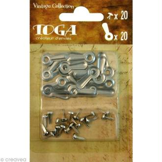 Flipettes en métal Vintage - 20 pcs