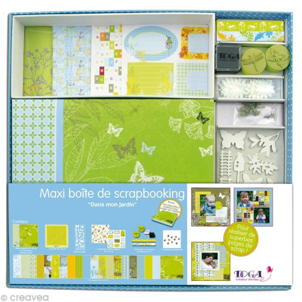 Maxi kit scrapbooking Dans mon jardin - Photo n°1
