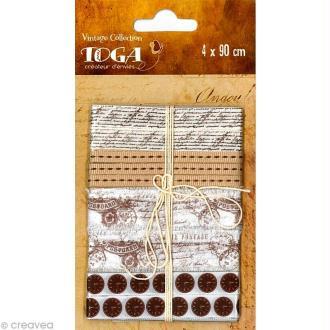 Ruban Toga - Vintage L'Air du Temps - 90 cm - 4 pcs