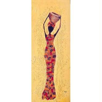 Image 3D Femme - Femme africaine stylisée 20 x 50 cm