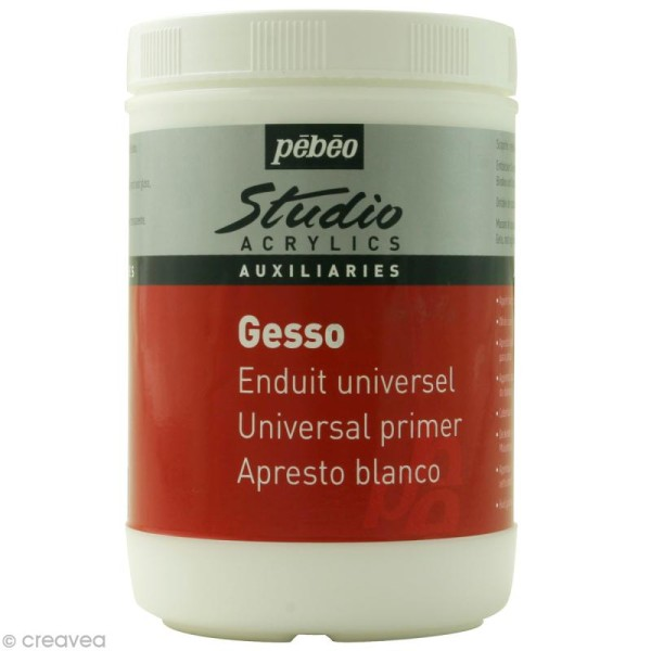 Gesso Blanc Pébéo Studio 1 L - Photo n°1