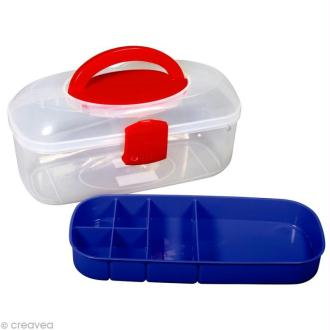 Boîte de rangement avec poignée et insert