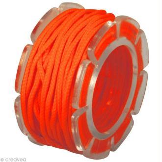 Cordon coton pour bijou 1,5 mm - Orange fluo x 5 m