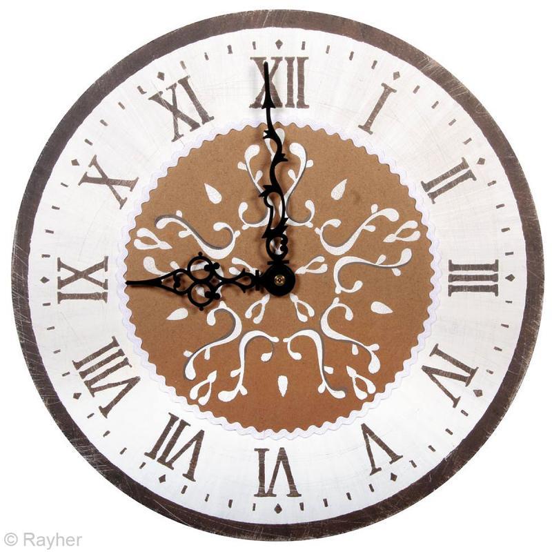 kit pochoir horloge chiffres romains pochoir mural creavea. Black Bedroom Furniture Sets. Home Design Ideas
