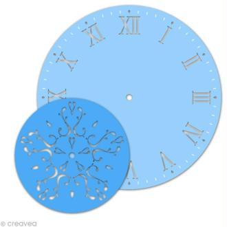 Kit pochoir horloge - Chiffres romains