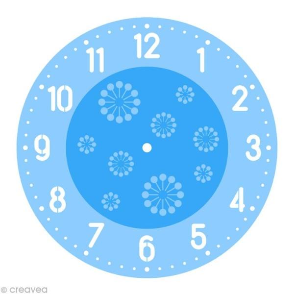Kit pochoir horloge - Chiffres arabes - Photo n°2