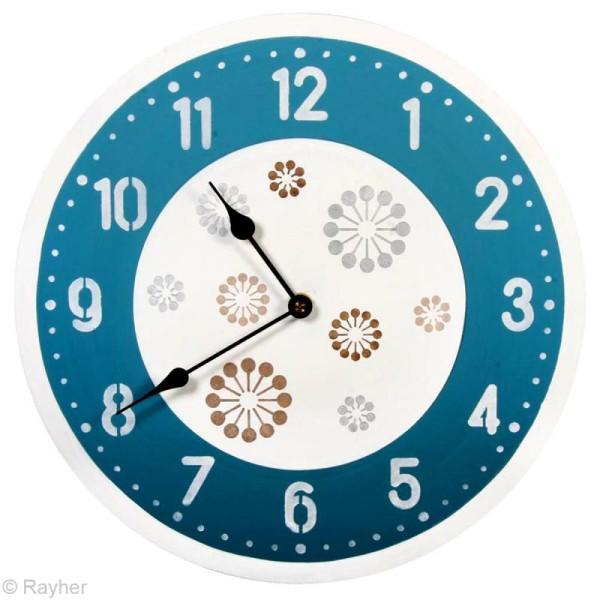 Kit pochoir horloge - Chiffres arabes - Photo n°3