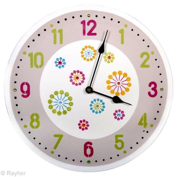 Kit pochoir horloge - Chiffres arabes - Photo n°4