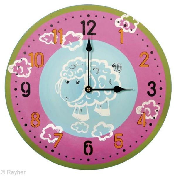 Kit pochoir horloge - Chiffres arabes - Photo n°5