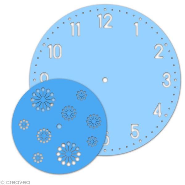 Kit pochoir horloge - Chiffres arabes - Photo n°1