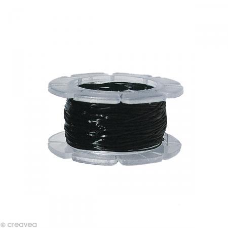 Fil élastique noir Magic stretch 0,5 mm x 5 m