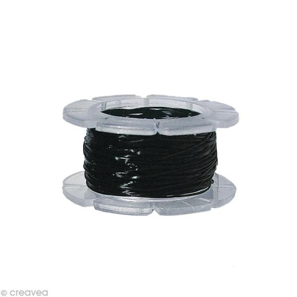 Fil élastique noir Magic stretch 0,5 mm x 5 m - Photo n°1
