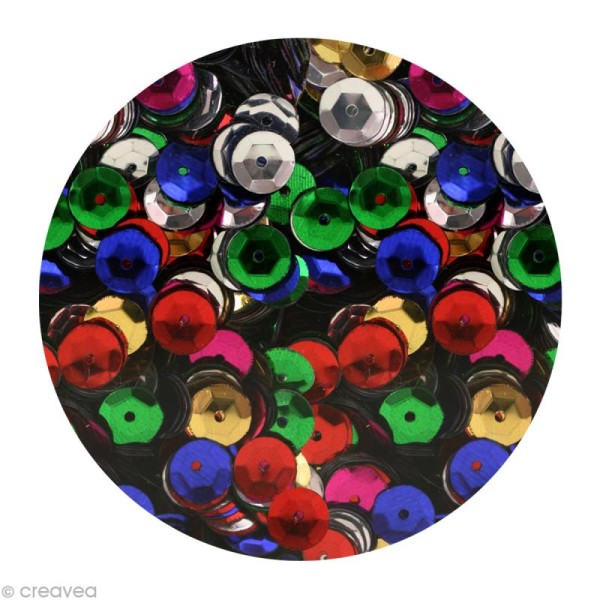 Sequins paillettes 6 mm Multicolore - 4000 pcs - Photo n°1
