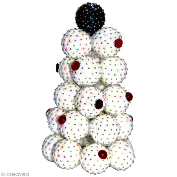 Sequins paillettes 6 mm Blanc irisé - 4000 pcs - Photo n°2