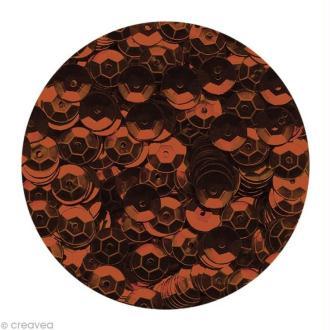 Sequins paillettes 6 mm Brun foncé - 4000 pcs