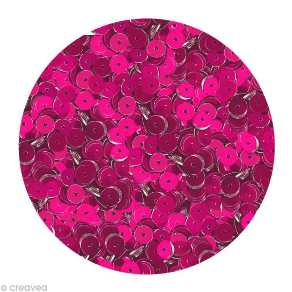 Sequin plat 6 mm Rose lilas - 4000 pcs - Photo n°1