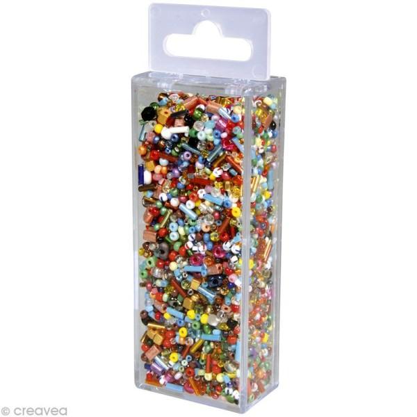 Assortiment de perles en verre x 100 gr - Photo n°1