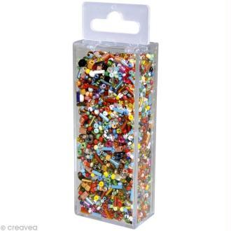 Assortiment de perles en verre x 100 gr