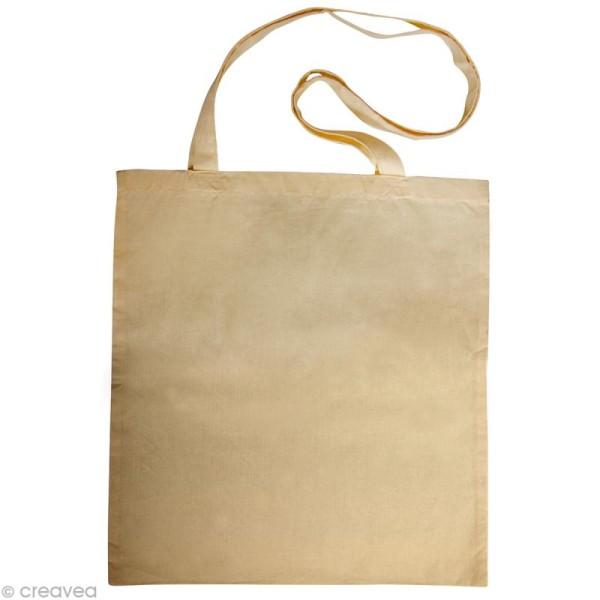 Sac en coton personnalisable Beige - anses longues - Photo n°1