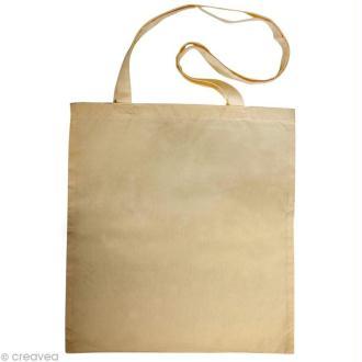 Sac en coton personnalisable Beige - anses longues