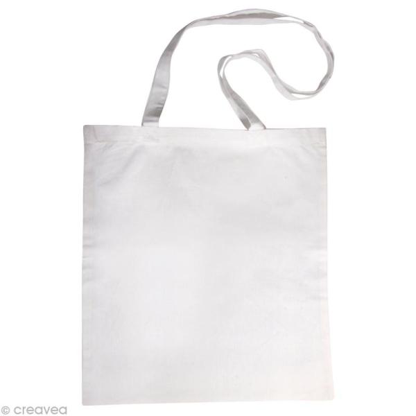 Sac en coton personnalisable Blanc - anses longues - Photo n°1