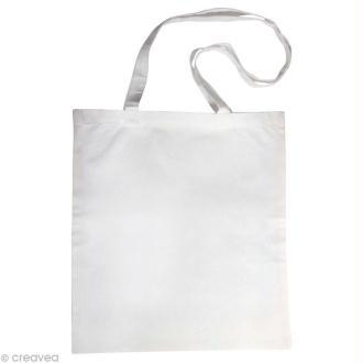 Sac en coton personnalisable Blanc - anses longues