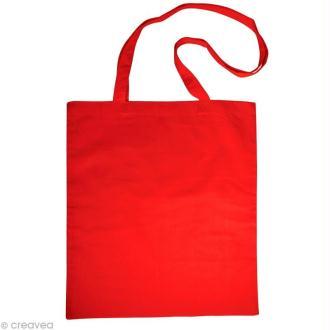 Sac en coton personnalisable Rouge - anses longues