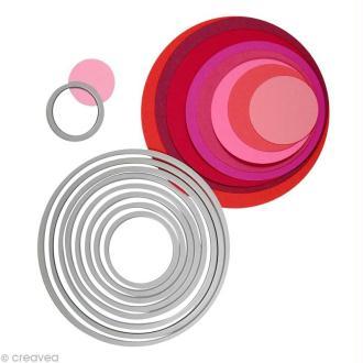 Framelits Sizzix - Kit de gabarits Cercles - 8 pcs