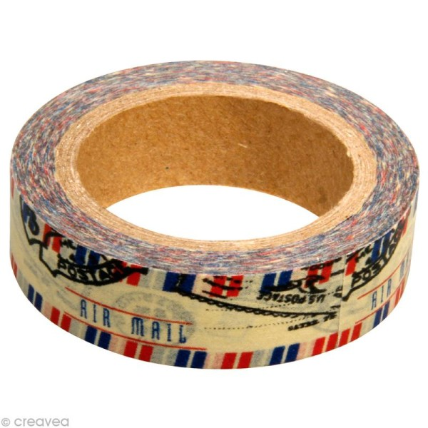 Washi tape Poste aérienne 15 mm x 15 m - Photo n°1