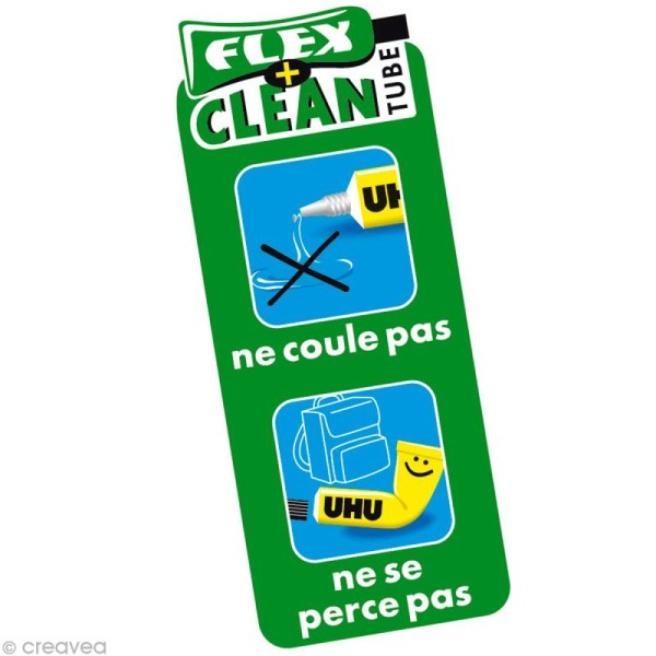Colle UHU Flex + clean sans solvant 20 gr - Photo n°2