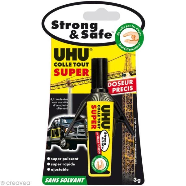 Colle UHU Strong & safe - Sans solvant Tube doseur 3 gr - Photo n°2
